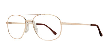 Gold Affordable Design Sol (57) Eyeglasses