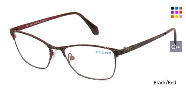 Black/Red C-Zone Q1206 Eyeglasses.