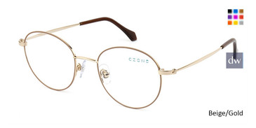 Beige/Gold C-Zone Q2234 Eyeglasses Teenager.