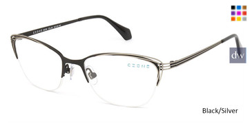 Black/Silver C-Zone Q2238 Eyeglasses.