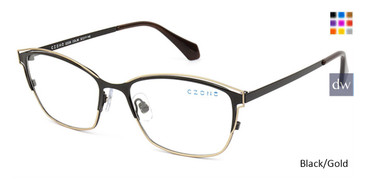 Black/Gold C-Zone Q2239 Eyeglasses.
