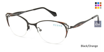 Black/Orange C-Zone Q4137 Eyeglasses.