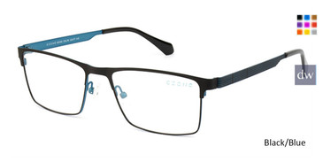 Black/Blue C-Zone Q5205 Eyeglasses.