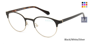 Black/White/Silver C-Zone U5203 Eyeglasses.