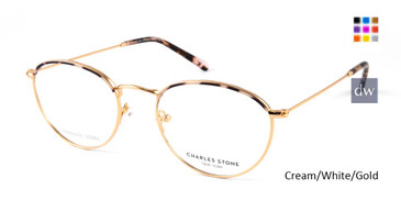 Cream/White/Gold William Morris Charles Stone NY CSNY30046 Eyeglasses.