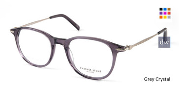 Grey Crystal William Morris Charles Stone NY CSNY30052 Eyeglasses - Teenager.