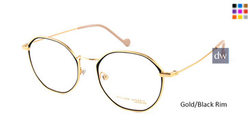 Gold/Black Rim William Morris London WM50099 Eyeglasses.