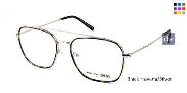 Black Havana/Silver William Morris London WM50102 Eyeglasses.
