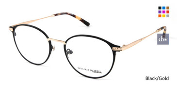 Black/Gold William Morris London WM50103 Eyeglasses.