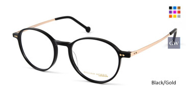 Black/Gold William Morris London WM50112 Eyeglasses - Teenager.