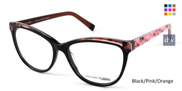Black/Pink/Orange William Morris London WM50114 Eyeglasses.