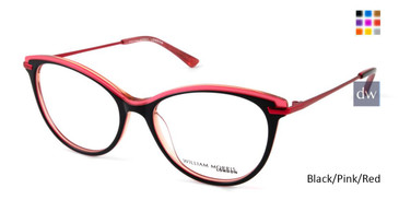 Black/Pink/Red William Morris London WM50116 Eyeglasses.