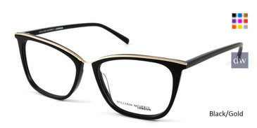 Black/Gold William Morris London WM50117 Eyeglasses.