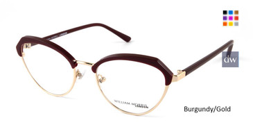 Burgundy/Gold William Morris London WM50123 Eyeglasses.