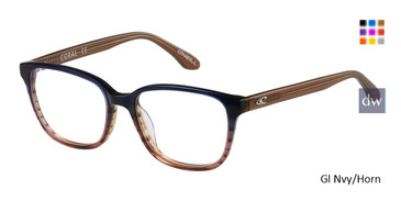Gl Nvy/Horn O'Neill Coral Eyeglasses