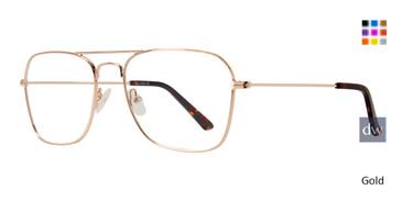 Gold Eight To Eighty Navigator Eyeglasses.