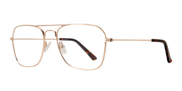 Gold Eight To Eighty Navigator Eyeglasses.
