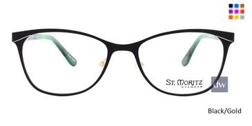 Black/Gold ST. Moritz BROOKE Eyeglasses