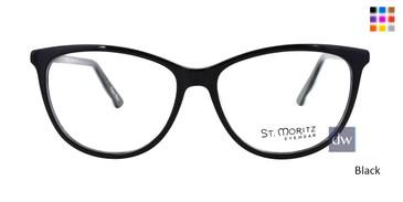 Black ST. Moritz ICE 302 Eyeglasses