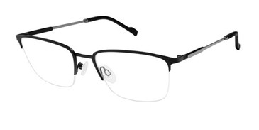 Black/Gunmetal Titan Flex 820781 Eyeglasses.