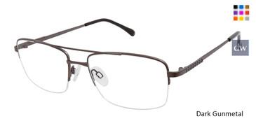 Dark Gunmetal Titan Flex M978 Eyeglasses.