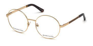 Gold MARCIANO GM0323 Eyeglasses.
