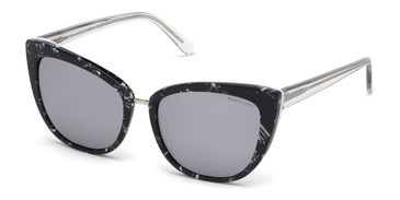 Black/Other/Smoke Mirror Marciano GM0783 Sunglasses.
