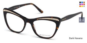 Dark Havana Marciano GM0337 Eyeglasses.