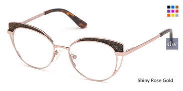 Shiny Rose Gold Marciano GM0343 Eyeglasses.