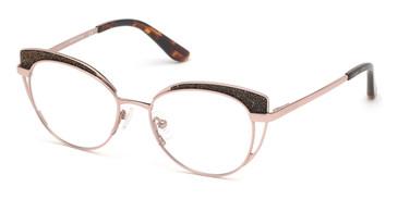 Shiny Rose Gold Marciano GM0343 Eyeglasses.
