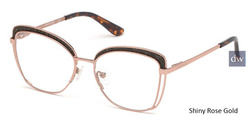 Shiny Rose Gold Marciano GM0344 Eyeglasses.