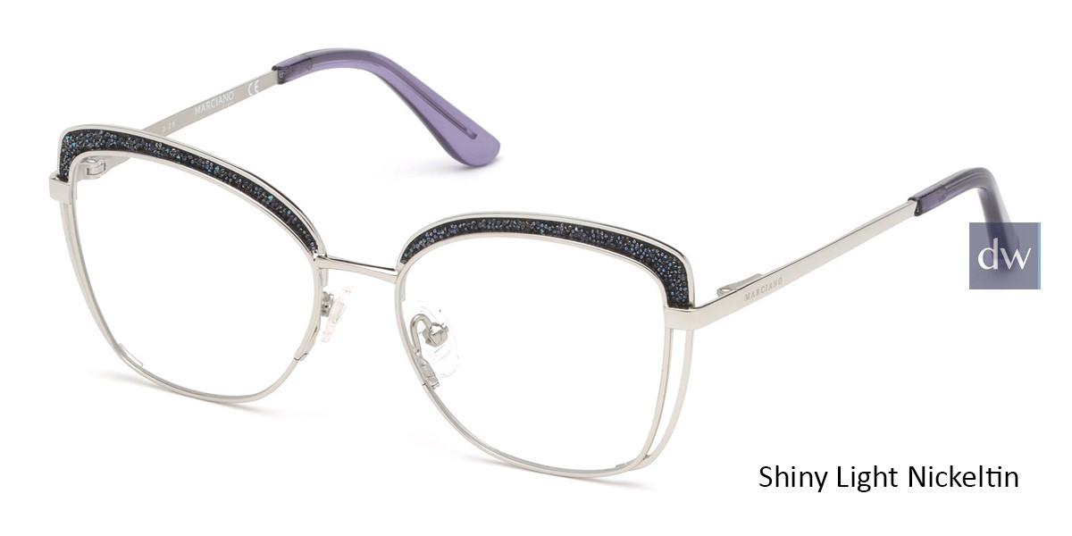 Shiny Light Nickeltin Marciano GM0344 Eyeglasses.