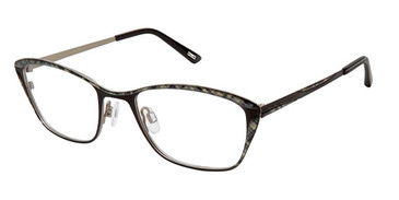 Black Argyle Kliik Denmark 649 Eyeglasses- Teenager.