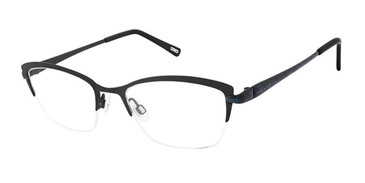 Black Grey Kliik Denmark 645 Eyeglasses- Teenager.