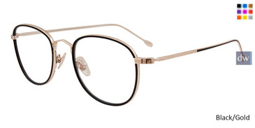 Black/Gold John Varvatos V178 Eyeglasses - Teenager