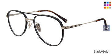 Black/Gold John Varvatos V175 Eyeglasses