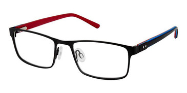 Black Blue Red Superflex Kids SFK-216 Eyeglasses.