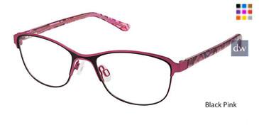 Black Pink Superflex Kids SFK-215 Eyeglasses