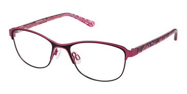 Black Pink Superflex Kids SFK-215 Eyeglasses.