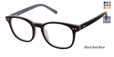 Black Red Blue Superflex Kids SFK-214 Eyeglasses
