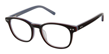Black Red Blue Superflex Kids SFK-214 Eyeglasses.