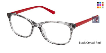 Black Crystal Red Superflex Kids SFK-210 Eyeglasses