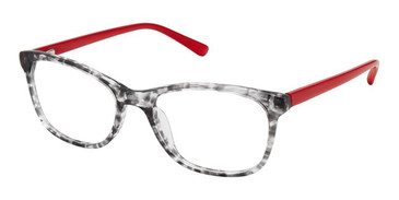 Black Crystal Red Superflex Kids SFK-210 Eyeglasses.