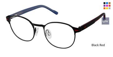 Black Red Superflex Kids SFK-209 Eyeglasses