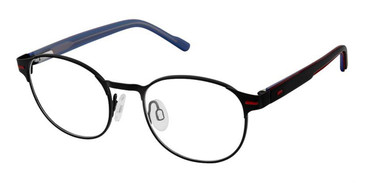 Black Red Superflex Kids SFK-209 Eyeglasses.