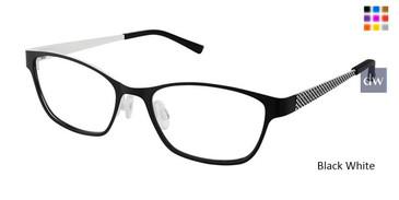 Black White Superflex Kids SFK-208 Eyeglasses