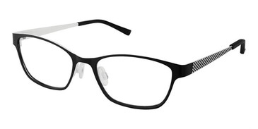 Black White Superflex Kids SFK-208 Eyeglasses.