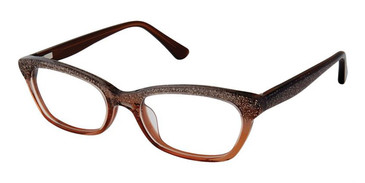 Brown Sparkle Superflex Kids SFK-206 Eyeglasses.