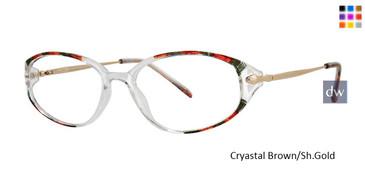 Crystal Brown/Sh.Gold Vivid Dynasty 59 Eyeglasses.