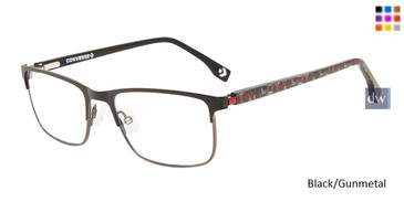 Black/Gunmetal Converse K107 Eyeglasses - Teenager